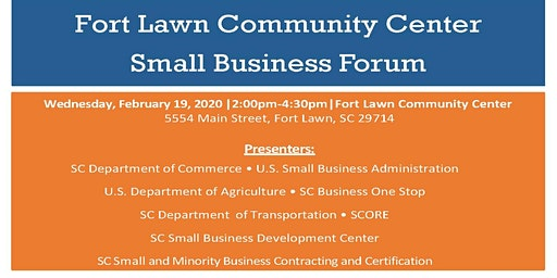 Fort Lawn Community Center Small Business Forum