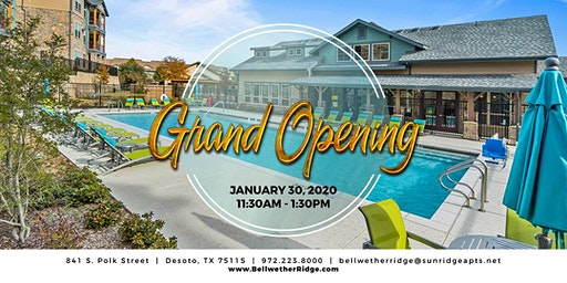 Grand Opening @ Bellwether Ridge Apts