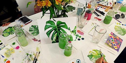 Workshop Acuarela Botánica, edición plantas tropicales.