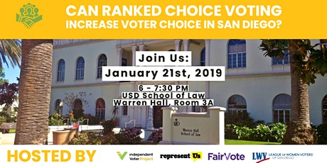 Voting Rights Forum: Can RCV Increase  Voter Choice in San Diego? tickets