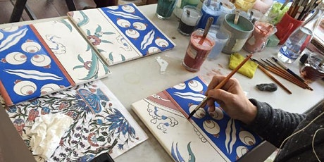 Pottery / Ceramic Tile (Chene) Painting Class for Everyone tickets