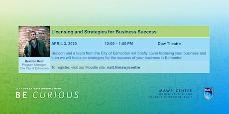 Licensing your Business and Strategies for Your Success tickets