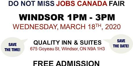 Windsor Job Fair – March 18th, 2020 tickets