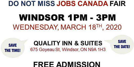 Windsor Job Fair – March 18th, 2020