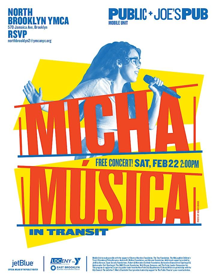 Public Theater: Free Concert - Micha Musica image