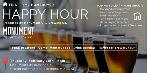 First-Time Homebuyer Happy Hour at Monument City Brewing Company