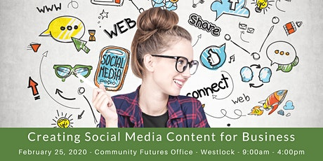 Creating Social Media Content For Business - Westlock tickets