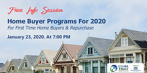 Home Buying Programs for 2020 Free Info Session
