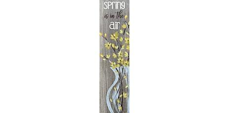 Spring Wood Look Tile  Canvas Paint Sip Wine Art Maker Class tickets