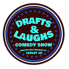 Drafts & Laughs Comedy Show logo