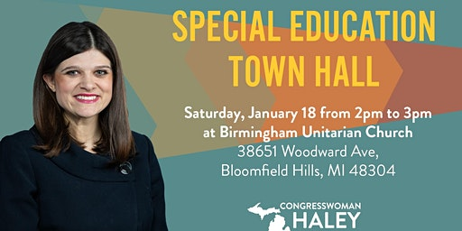 Special Education Town Hall with Congresswoman Haley Stevens