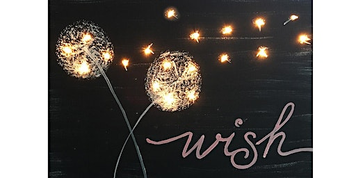 Wish Canvas with Lights  Paint Sip Wine Art Maker Class