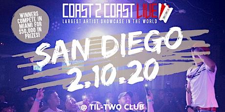Coast 2 Coast LIVE Artist Showcase San Diego - $50K in Prizes! tickets