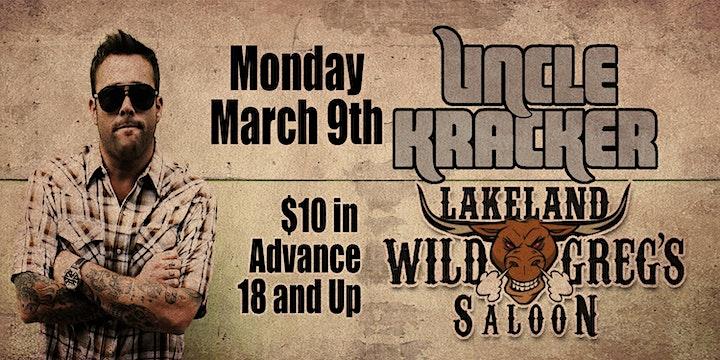 Uncle Kracker Live at Wild Greg's Saloon Lakeland image