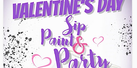 Valentine's Day Sip, Paint, and Party tickets