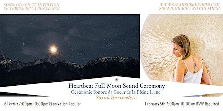 Heartbeat Full Moon Sound Ceremony billets