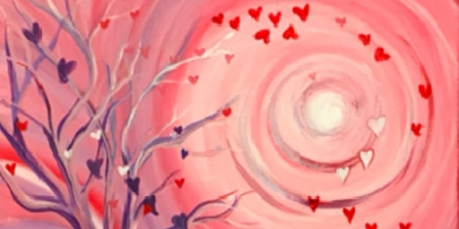 Valentine Paint Night at the Library Wine and Bistro
