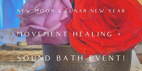 Movement Meditation and Sound Bath for the New Moon and New Year tickets