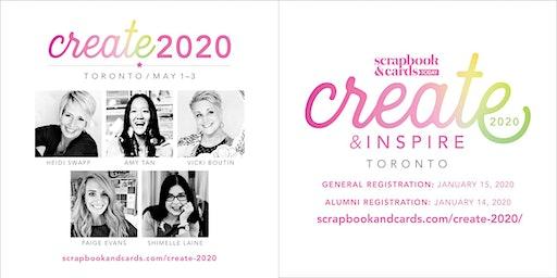 Create & Inspire 2020 – Toronto