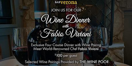 Bar Verona Washington Township Wine Dinner with Fabio Viviani tickets