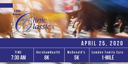 13th Annual Clinic Classic 8k, 5k and 1-mile Run/Walk