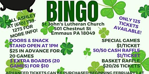 Emmaus Lucky Bucks Bingo