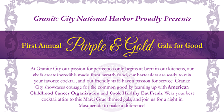 First Annual Purple and Gold Gala for Good - Masquerade Ball tickets