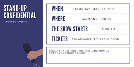 Stand-Up Confidential at Harmony Spirits tickets