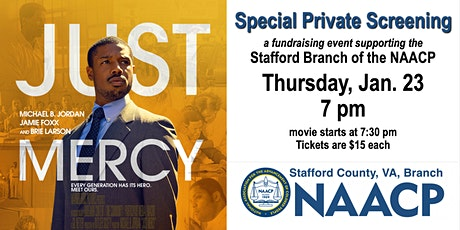 """Just Mercy"" - Special Private Screening for Stafford NAACP tickets"