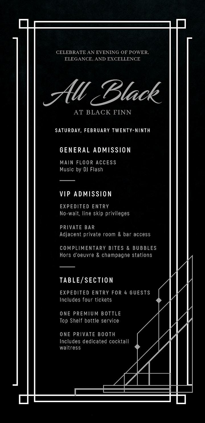 ALL BLACK at BLACKFINN | 2020 CIAA Tournament Weekend | Culture19 image