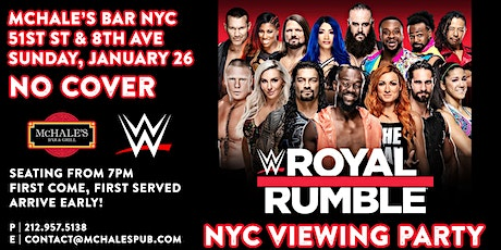 WWE Royal Rumble 2020 - NYC Viewing Party tickets