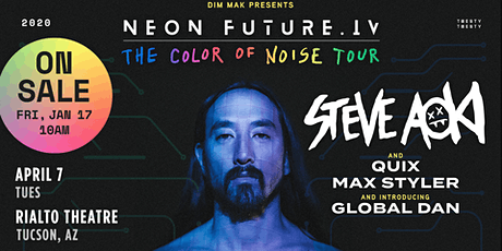***POSTPONED*** Neon Future IV- Steve Aoki tickets