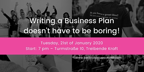 Writing a Business Plan doesn't have to be boring! tickets