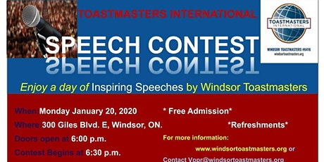 Windsor Toastmasters' 2020-Speech Contest tickets