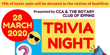 Trivia Night by CCA and The Rotary Club of Epping tickets