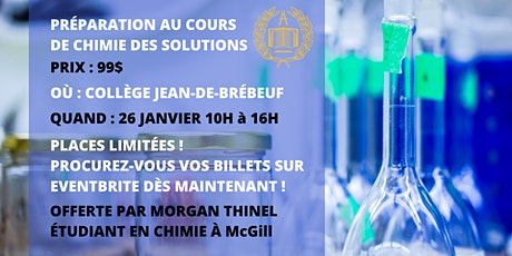 Bootcamp de Chimie des Solutions tickets