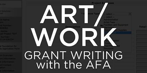 ART/WORK: Grant Writing with the AFA