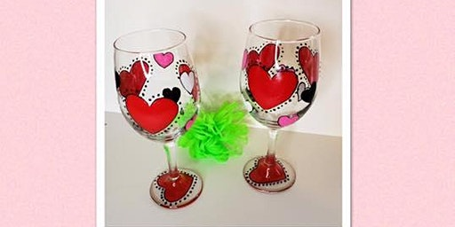 Valentine Wine Glass Paint Class (set of 2)
