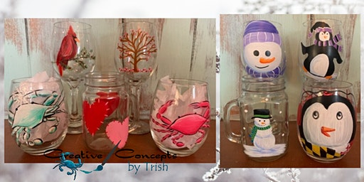 Valentine's Day & Winter Glasses Paint Night