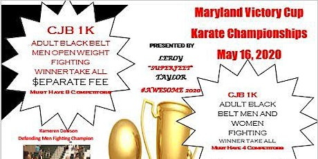 Maryland Victory Cup Karate Championship 2020 tickets