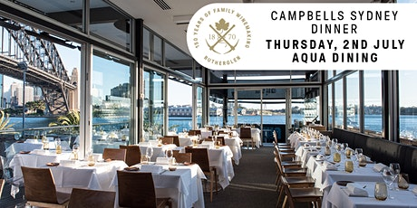 Campbells Sydney Dinner tickets