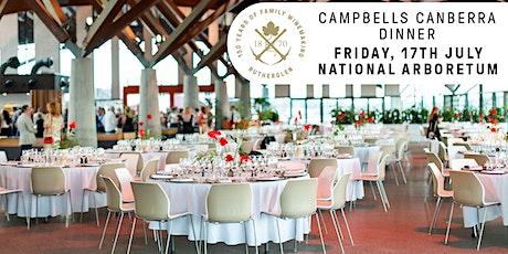 Campbells Canberra Dinner tickets