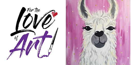 Paint and Sip Class: llama (New!!)