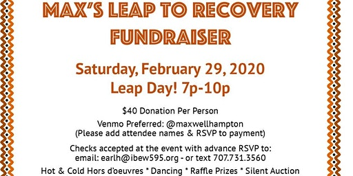 Max's Leap To Recovery Fundraiser
