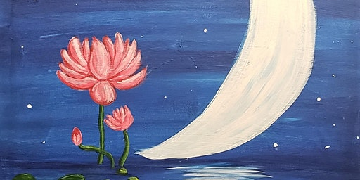 The Join us for this Beautiful Lotus Flower Painting!