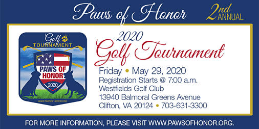 Second Annual Paws of Honor Golf Tournament- 2020