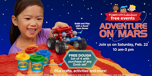Lakeshore's Adventure on Mars - Free In Store Event (Matthews)