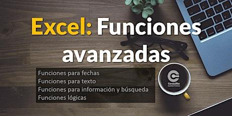 Excel - Funciones avanzadas tickets