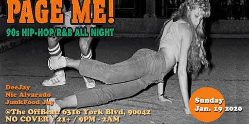 Page Me! 90's hip hop and r&B all night