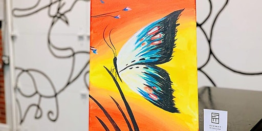 NIGHTLIFE-PAINT & SIP: BUTTERFLY